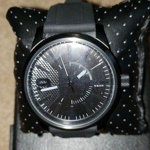 Diesel 1807 Rasp total black silicone watch